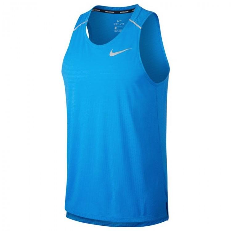 NIKE BREATHE RISE 365 T-SHIRT BLUE