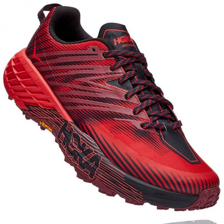 HOKA SPEEDGOAT 4 M RED/BLACK