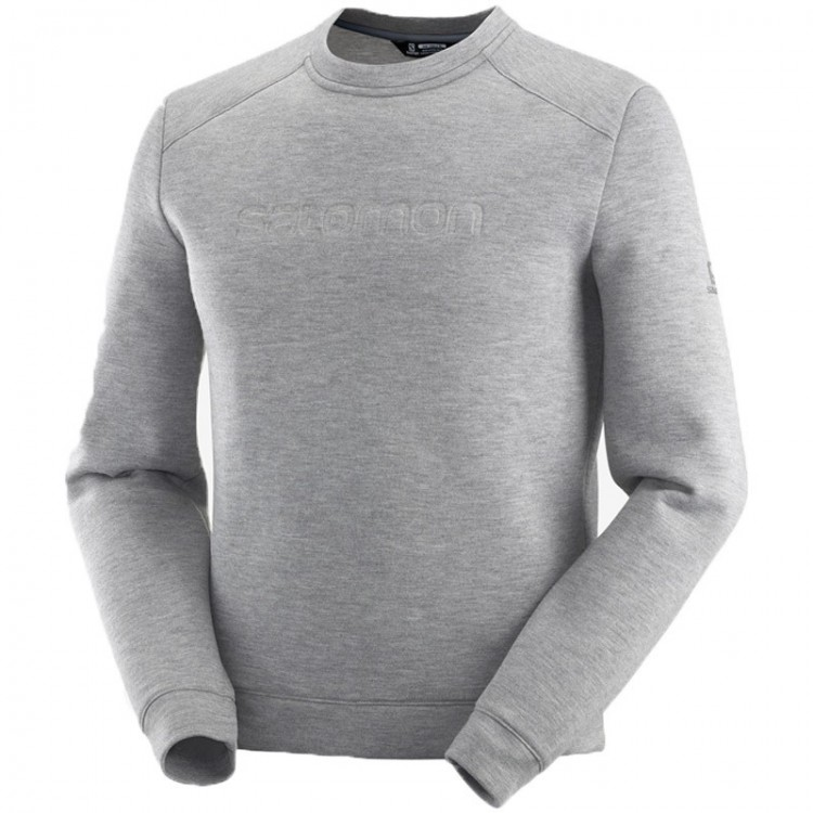 SALOMON SIGHT CREWNECK GREY SWEATSHIRT