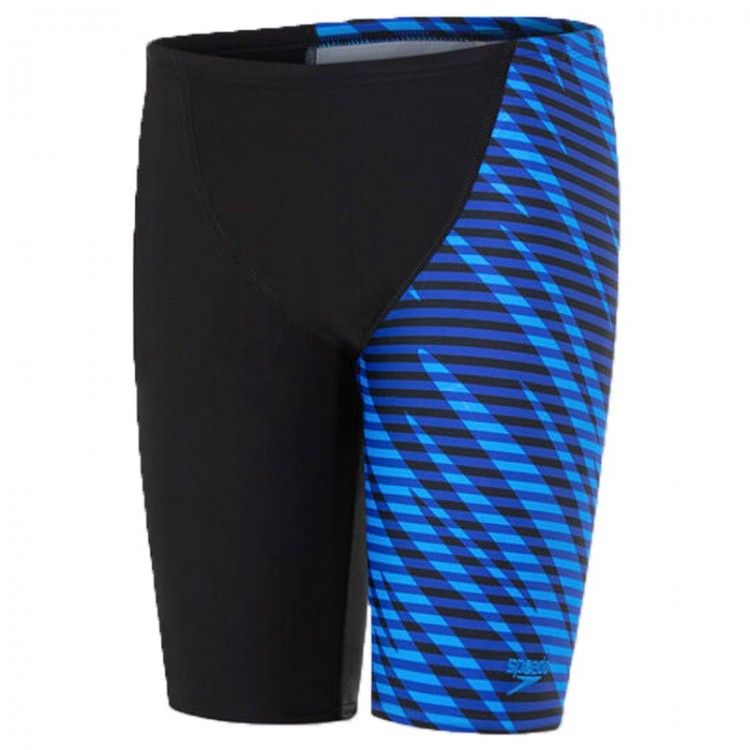 BAÑADOR SPEEDO ALLOVER V-CUT NEGRO/AZUL