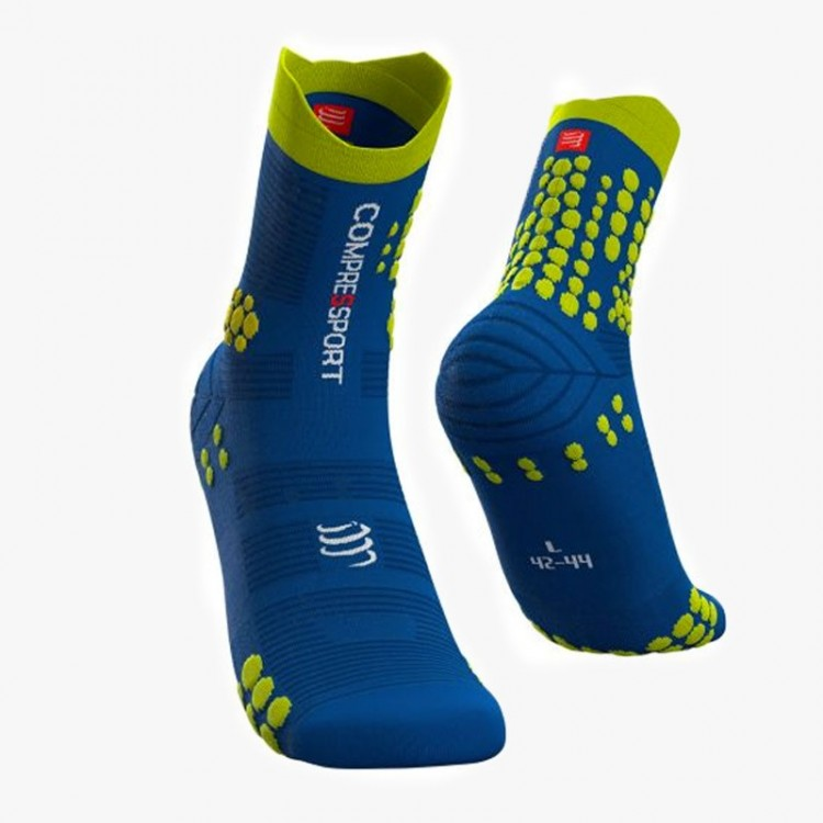 COMPRESSPORT PRO RACING V3 TRAIL BLUE LOLITE SOCKS