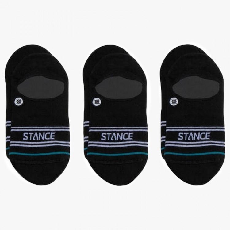 SOCKS STANCE BASIC 3 PACK NO SHOW BLACK