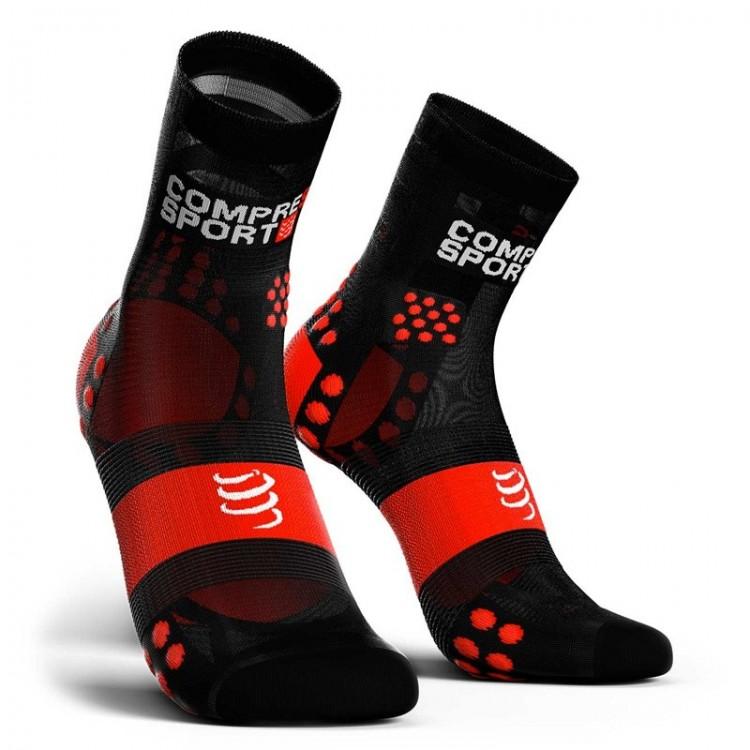 SOCKS COMPRESSPORT HIGH ULTRALIGHT V3 BLACK/RED