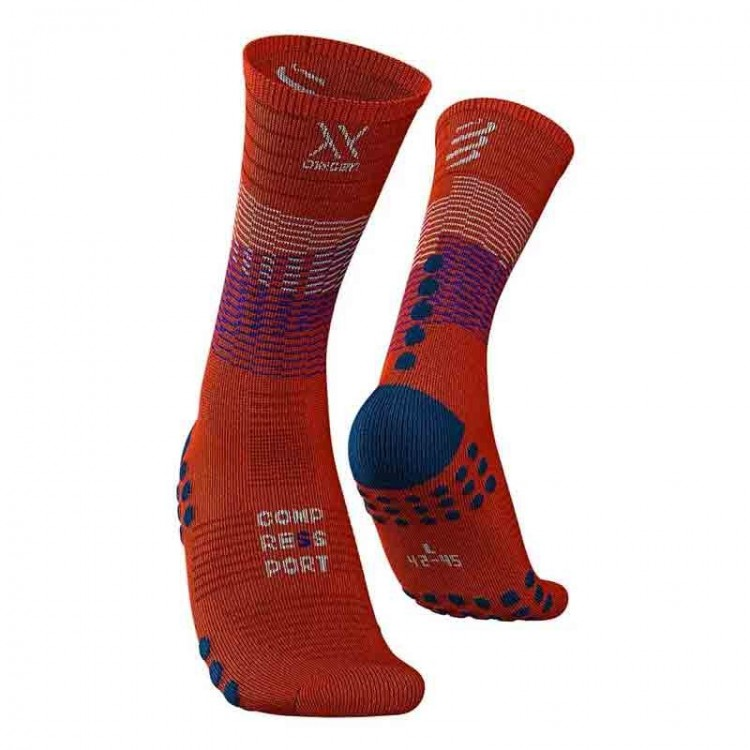 MID COMPRESSION SOCKS RED