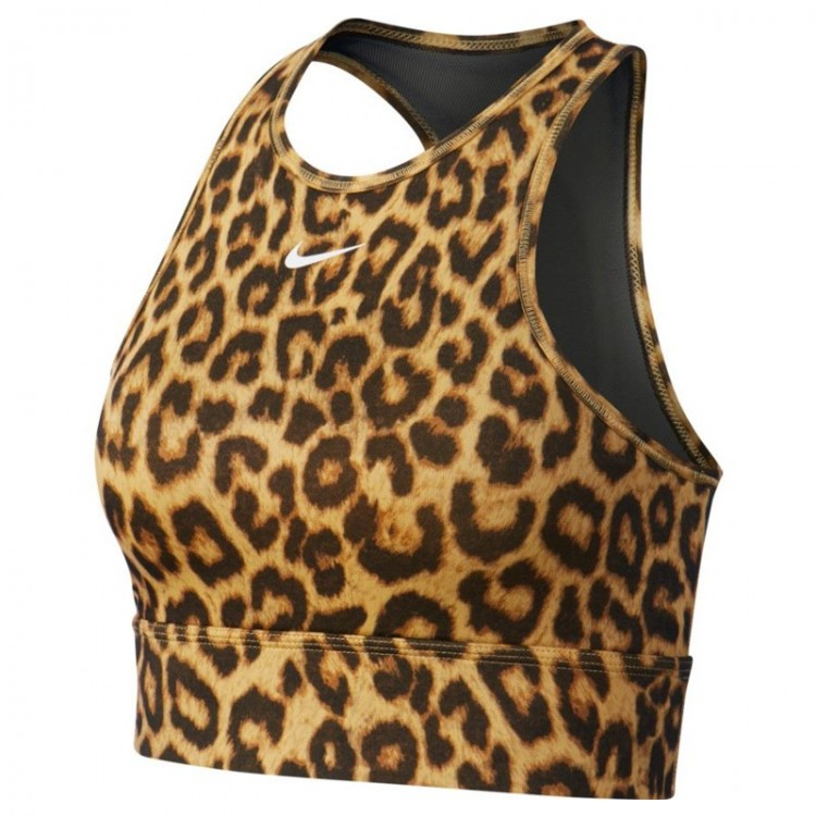 Sujetador leopardo NIKE de sujeción media