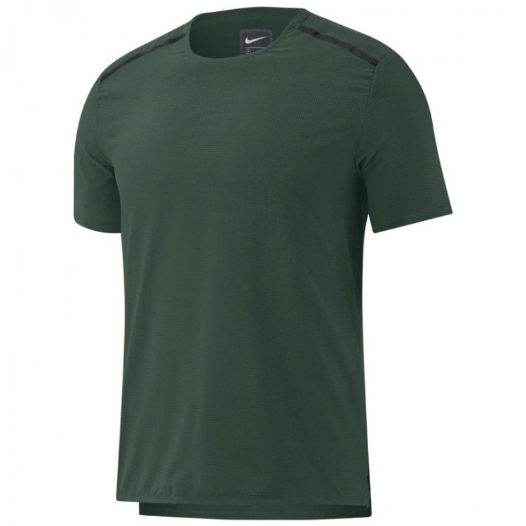 NIKE Sleeve Running Top GREEN