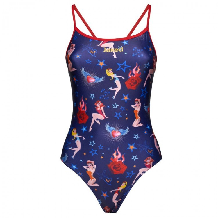 BLUE PIN UP MOOD SWIMSUIT