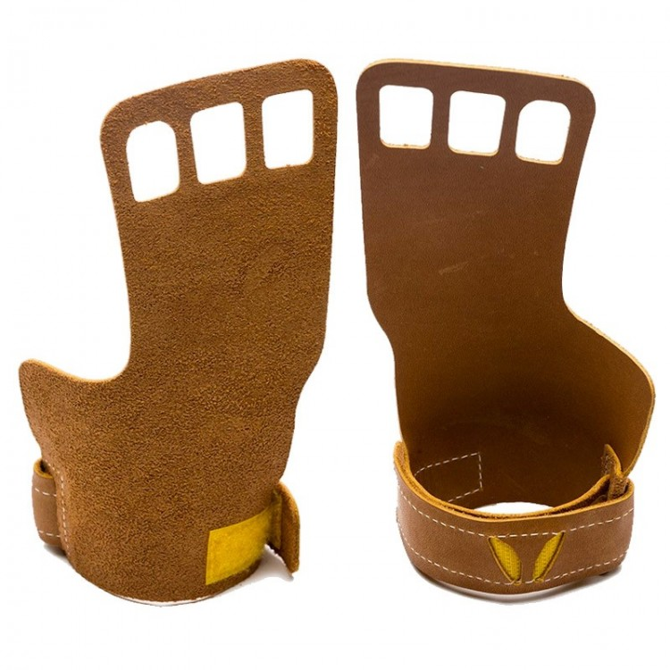 MEN'S VICTORY GRIPS LEATHER 3-FINGER BROWN