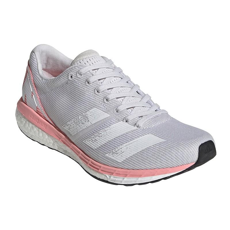 adidas adizero boston 8 w gris/rosa