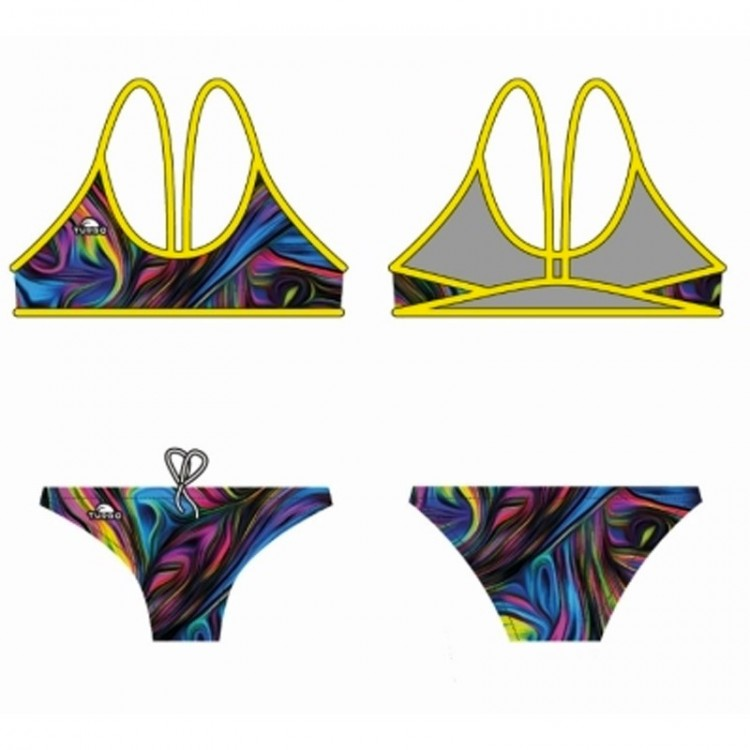 PINK RIVER 2 PIECE SWIMSUIT W