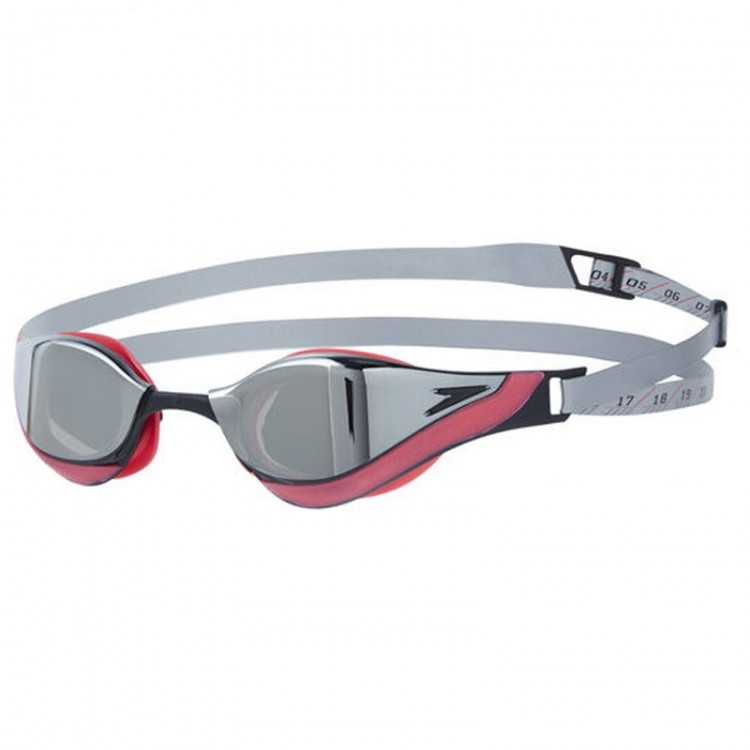 SPEEDO FASTSKIN PURE FOCUS MIRROR GREY/RED