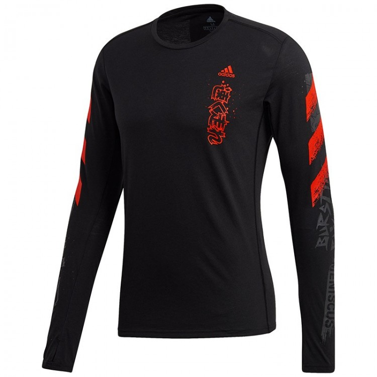 ADIDAS FAST GRAPHIC T-SHIRT BLACK/RED