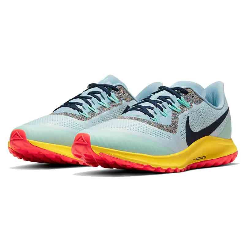 nike air zoom pegasus 36 trail azul / gris