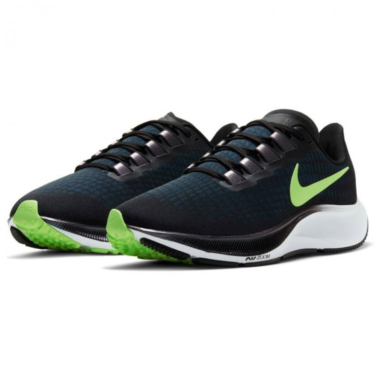 NIKE AIR ZOOM PEGASUS 37 WMNS BLACK/GREEN