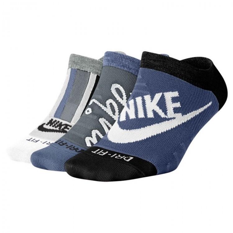 NIKE LIGHTWEIGHT SOCKS (PACK OF 3 BLUE)