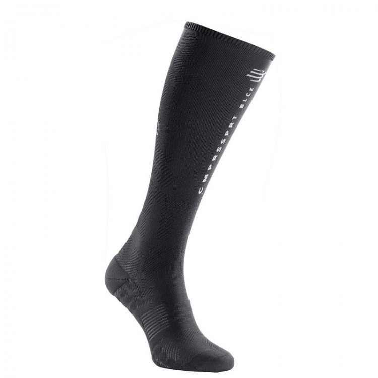 CALCETINES COMPRESSPORT FULL OXYGEN NEGRO
